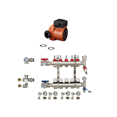 UNDERFLOOR HEATING  MANIFOLDS 5 PORT Pipes conectors size 16mm 15mm