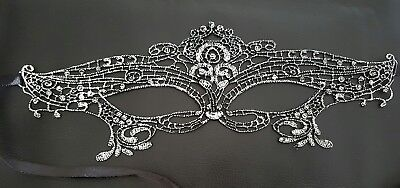 Stoning Silver Venetian MasqueradeBall Mask Eye Halloween Party Lace Fancy Dress