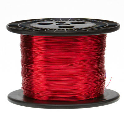 """14 AWG Gauge Enameled Copper Magnet Wire 10 lbs 799' Length 0.0655"""" 155C Red"""