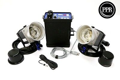 Hensel Porty 1200 Pro Lighting Kit With 2 EHT 1200 Strobe Heads and AC Adapter