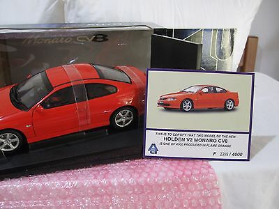 1:18 Autoart Holden V2 Monaro Cv8 'flame Orange'