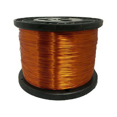 """24 AWG Gauge Enameled Copper Magnet Wire 10 lbs 7902' Length 0.0220"""" 200C Nat"""