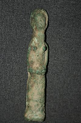 An Unique Bronze Guimbala Figure Niger Inland Delta Mali