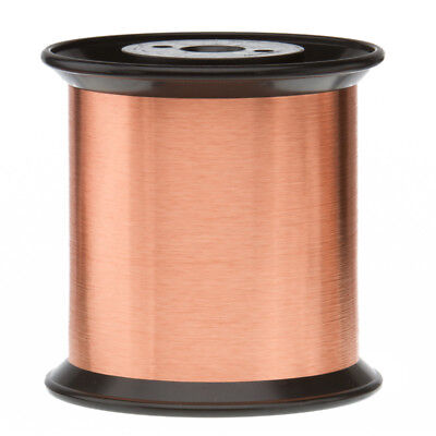 """37 AWG Gauge Enameled Copper Magnet Wire 5.0 lbs 78990' Length 0.0049"""" 155C Nat"""
