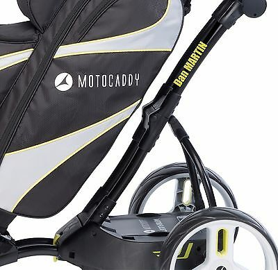 2x PERSONALISED POWAKADDY MOTOCADDY GOLF TROLLEY STICKERS  UP TO 40mm IN SIZE