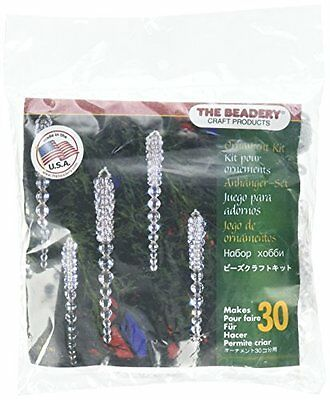 Beadery Plastic Holiday Beaded Ornament Kit Sparkling Icicles 3.75-inch Makes 30