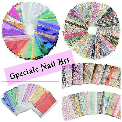 5 foil nastro misti decorazione unghie water decals stickers adesivi nail gel