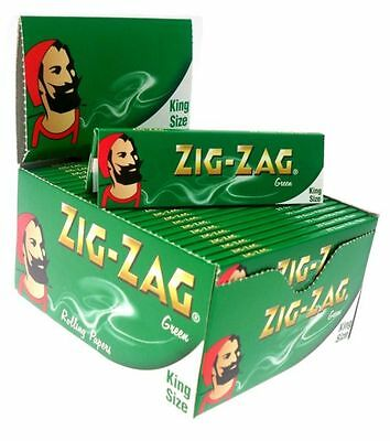 Zig Zag King Size Green Smoking Cigarette Rolling Papers Fast Dispatch Genuine