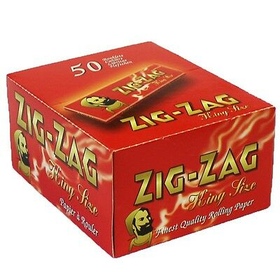 Zig Zag King Size Red Smoking Cigarette Rolling Papers Fast Dispatch Genuine