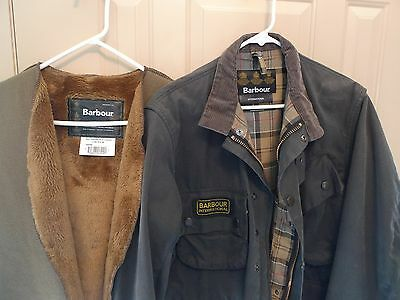 Barbour- Smu International Waxed Cotton Jacket & Liner--Rare And Limited - 38