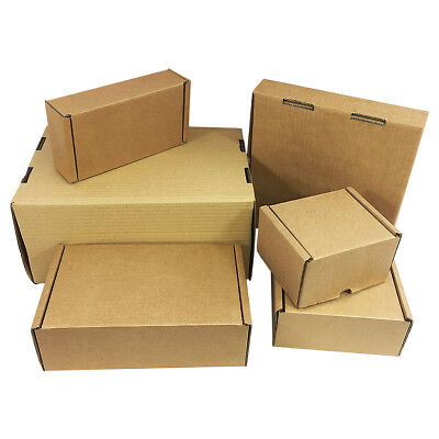 Folding Lid Self Seal Postal Cardboard Boxes Royal Mail Shipping Mailing Cartons