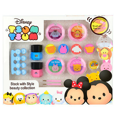 Disney Tsum Tsum Stack with Style Beauty Collection Kids Makeup Set - New