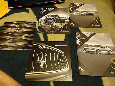 Lot of Mercedes and Maserati Dealer brochures