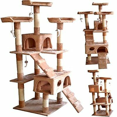 Kitten Cat Tree Scratching Large Activity Tall Post Sisal Toy Activity Centre
