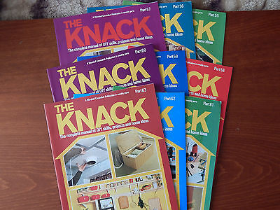 9X Old The Knack Magazines Parts 55-63 Brickwork Arches Awnings & Sunshades