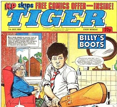 TIGER Sports Comics UK Vintage Comic Collection on 2 DVD Book Magazines & Comics