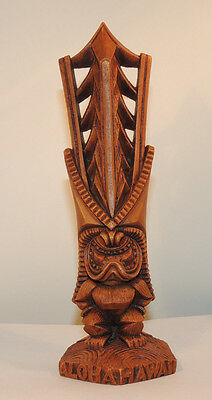 Aloha Hawaii Tiki God Statue over 9 inches tall by Coco Joes (12633)