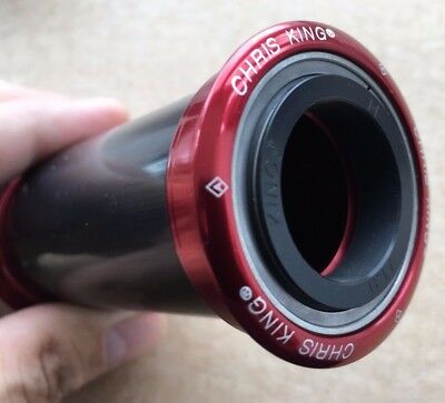 NEW Chris King Press Fit 24 mm BB Bottom Bracket - BB86/92 - Red - Made in USA