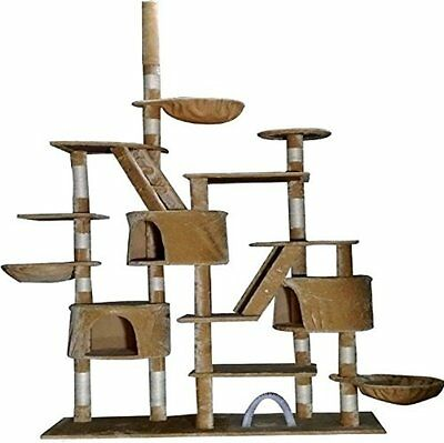 Cat Tree Kitten Scratching Post Pet High Activity Palace Rest Playing Nap Centre