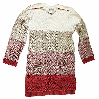 cd6ce38725 NWT Mayoral Girls  Ombre Knit Sweater Dress w Zipper Appliques ~ Sizes ...