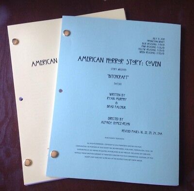 American Horror Story COVEN TV SHOW Season 3 - Bitchcraft Script  Color Covers