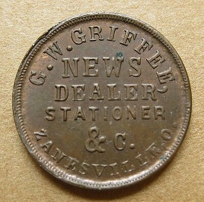 OH995F-2a R-5 Very Nice UNC - G.W. Griffee - News Dealer in Zanesville Ohio RARE