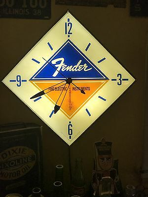 1963 Fender Pam Clock with reproduction faceplate.