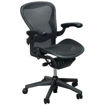 Herman Miller Aeron Chair Size B Fully Loaded with Carpet Casters