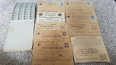 Antique War Ration Books - Books 1, 2, 3 & 4 - Large Lot