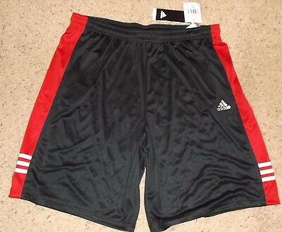 ADIDAS ClimaLite CP 3S Training Athletic Soccer Shorts Mens  XL Poly Black NEW