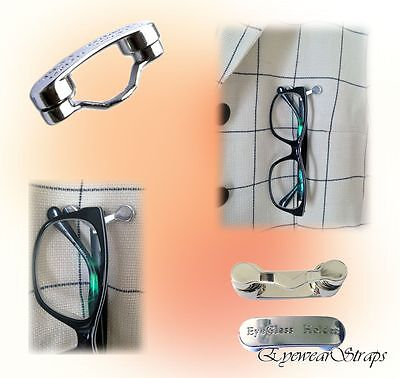 NEW Unisex Magnetic Glasses Spectacle Magnet Brooch Holder
