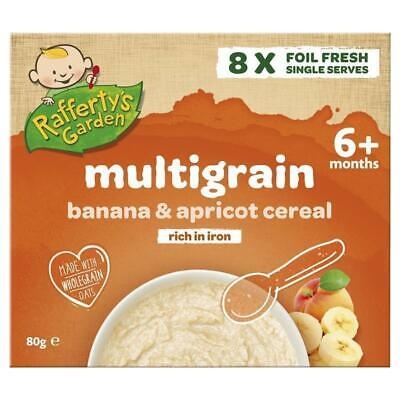 Raffertys Garden 6+ Months Multigrain Banana & Apricot Cereal8 x10g Single Serve