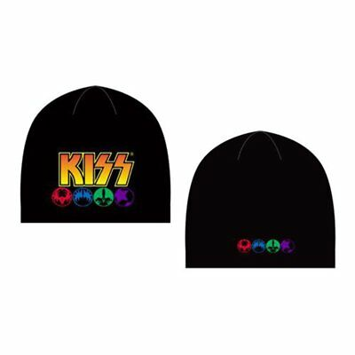Kiss - Knit Beanie - Embroidered - Logo and Icons