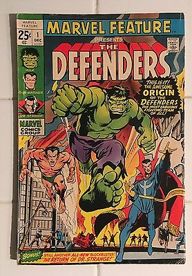 Marvel Feature #1 Origin and 1st Appearance of the Defenders! Super Key Issue!!