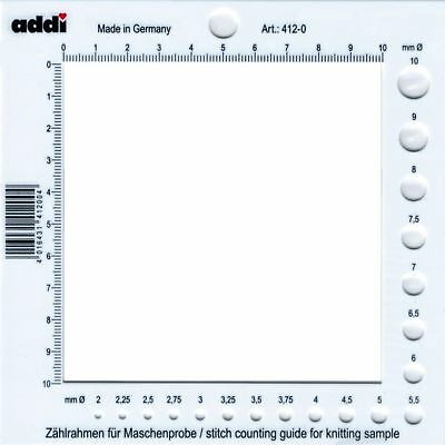 Addi Stitch Counting Guide and Frame