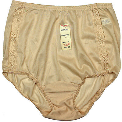 Vintage Vanity Fair Beige Antron Tricot Lace Panties Brushed Nylon Mushroom 5