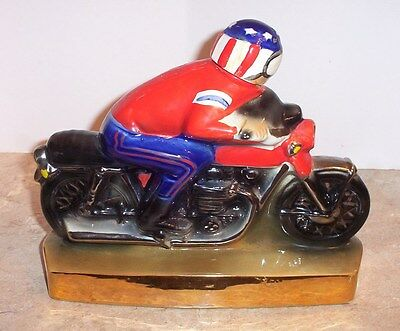 1971 Heritage China Ezra Brooks Motorcycle Empty Decanter  ( Free Shipping )