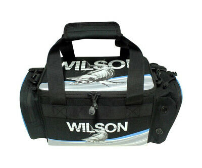Wilson Small Fishing Tackle Bag with 4 Tackle Boxes & Multiple Storage Pockets
