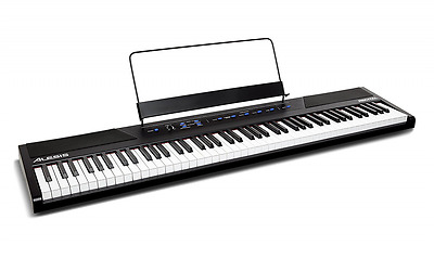 Alesis Recital 88-Key Beginner Digital Piano with Full-Size Semi-Weighted Keys a