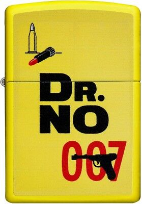 Zippo Choice James Bond 007 Dr. No Collection Lighter Yellow Matte 29565 NEW