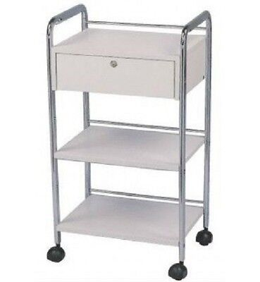 Wax Beauty Trolley Salon Spa Cart Storage Display 3 Tier Shelves 1 Tidy Drawer