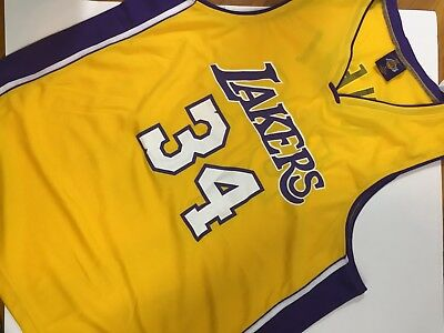 0ccbd68b2 LINKS MARKETING MENS Los Angeles Lakers 34 Oneal jersey size XL ...