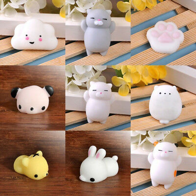 3D Mochi Soft Animal Squeeze Stretch Compress Squishy Decompression Toys 1pc