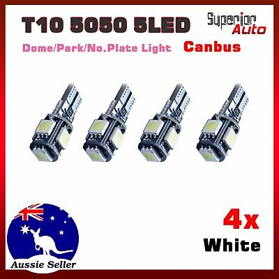 For Holden Commodore VF&HSV Gen-F Number Plate Light T10 5LED Canbus Bulb White