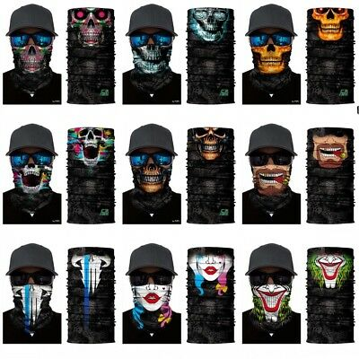Multi-fun Face Shield Sun Mask Neck Gaiter Balaclava Fishing Scarf Headwear UV