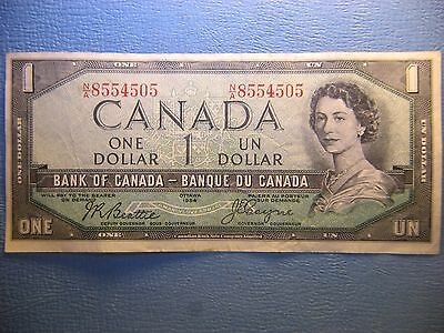 Bank  of  Canada  1954  One Dollar  Devil Face