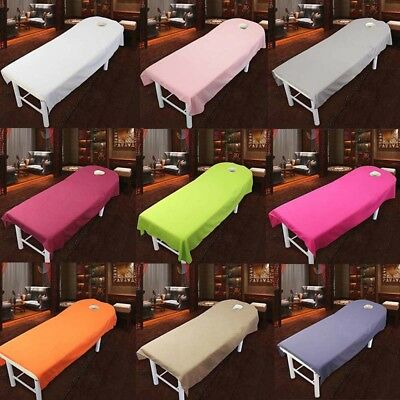 1x Massage Beauty Treatment  Bed Table Chair Cover Sheets with Face Breath Hole