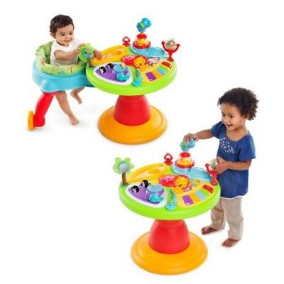 Baby Toddlers 3 In 1 Activity Center Walker Play Table Spinner Piano Music Sound