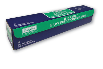 500 Ft Heavy Duty Aluminum Foil 18 X 500 Daily Chef Heavy Duty Food Service New