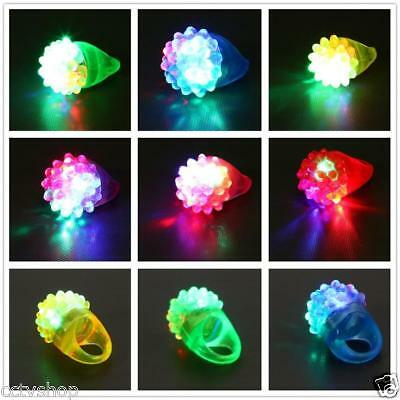 6-30 Pack Led Rubber Rings For Party Favors Jelly Bubble Light Up Finger Toy